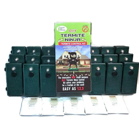 Termite Ninja Multi -Purpose - DIY Med/House 18 Pack - Traps - Plus 5 Baits