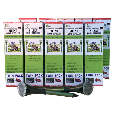 EBC New Silent Solar Snake Repellers Large Farm 20 Pack - Envirobug