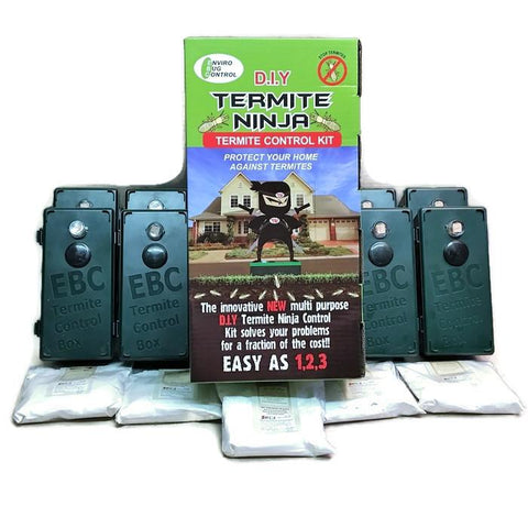 Termite Ninja Multi-Purpose - DIY Small House 8 Pack - Termite Traps & 5 Baits