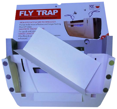 Enviro Bug Control - Commercial Grade Electronic Fly & Insect Trap + 1 Pack of Glue Boards Combo - Envirobug
