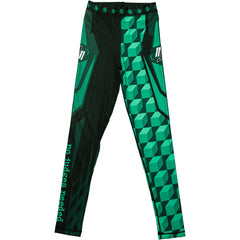 Green M1 BJJ Spats/ Compression Pants | No Judges Needed