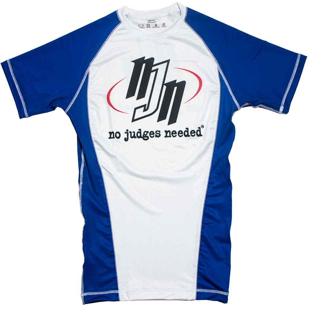 Rash Guard Blue Ranked Short Sleeve | No Judges Needed