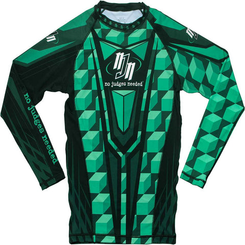 Women's Green M1 Rash Guard Long Sleeve