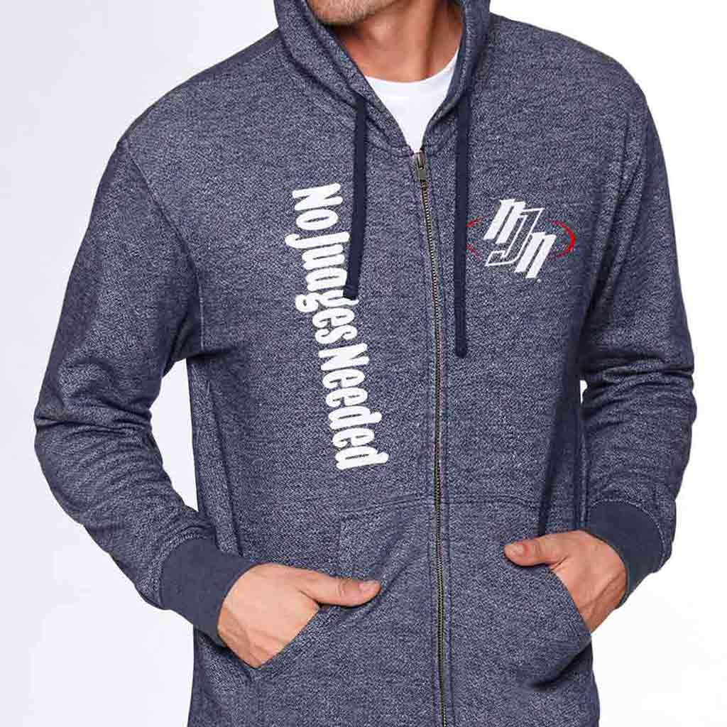 Hoody Full Zip Black | No Judges Needed