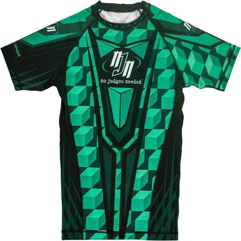 Green M1 Short Rash Guard