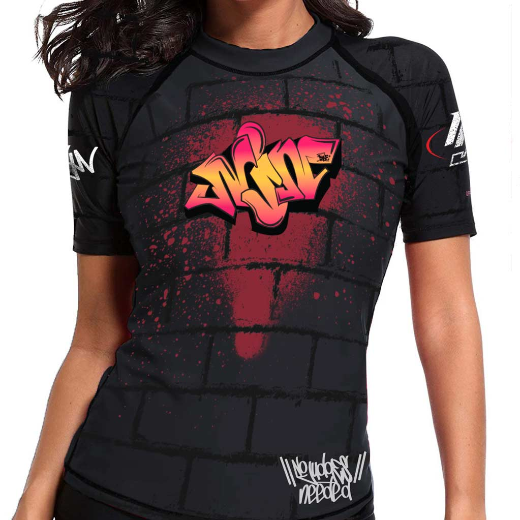 Womens Graffiti Rash Guard | No Judges Needed