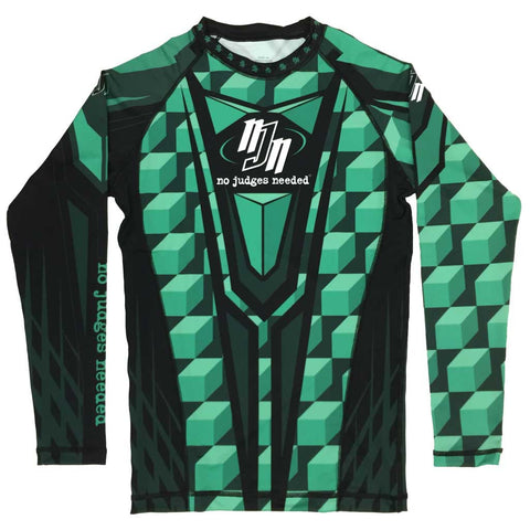 Youth Green M1 Rash Guard Long Sleeve