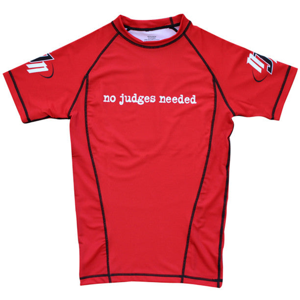 BJJ rash guard short sleeve | No Judges Needed