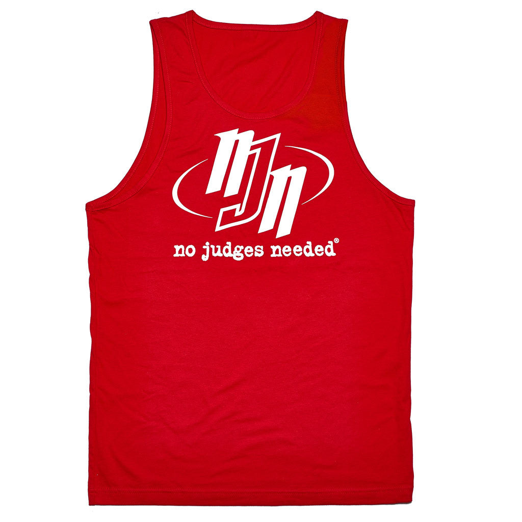 Tank Top Red NJN Logo 2 | No Judges Needed