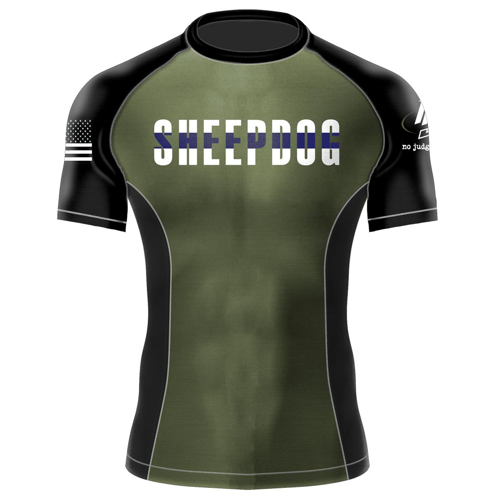 Sheepdog BJJ Rash Guard | No Judges Needed