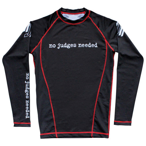 Youth long sleeve rash guard black | No Judges Needed