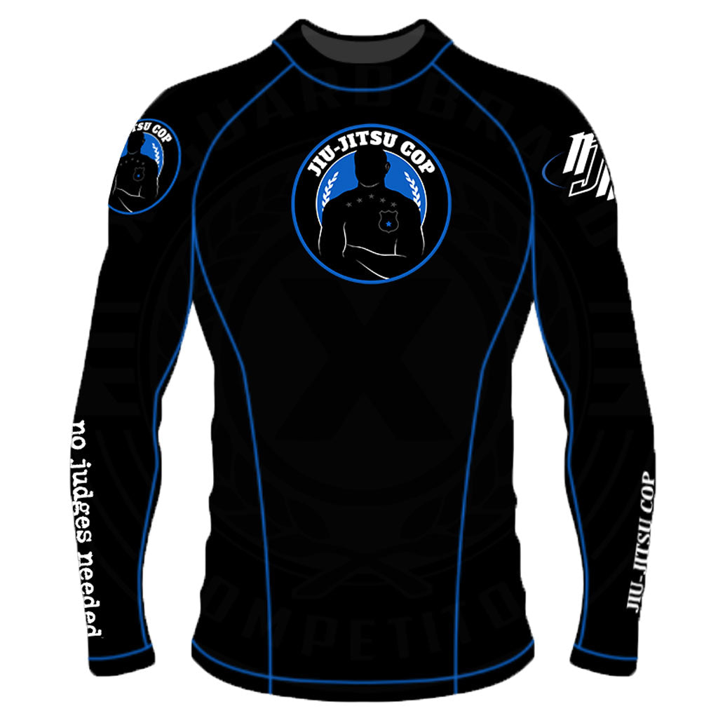 BJJ Cop Rashguard Long Sleeve | No Judges Needed