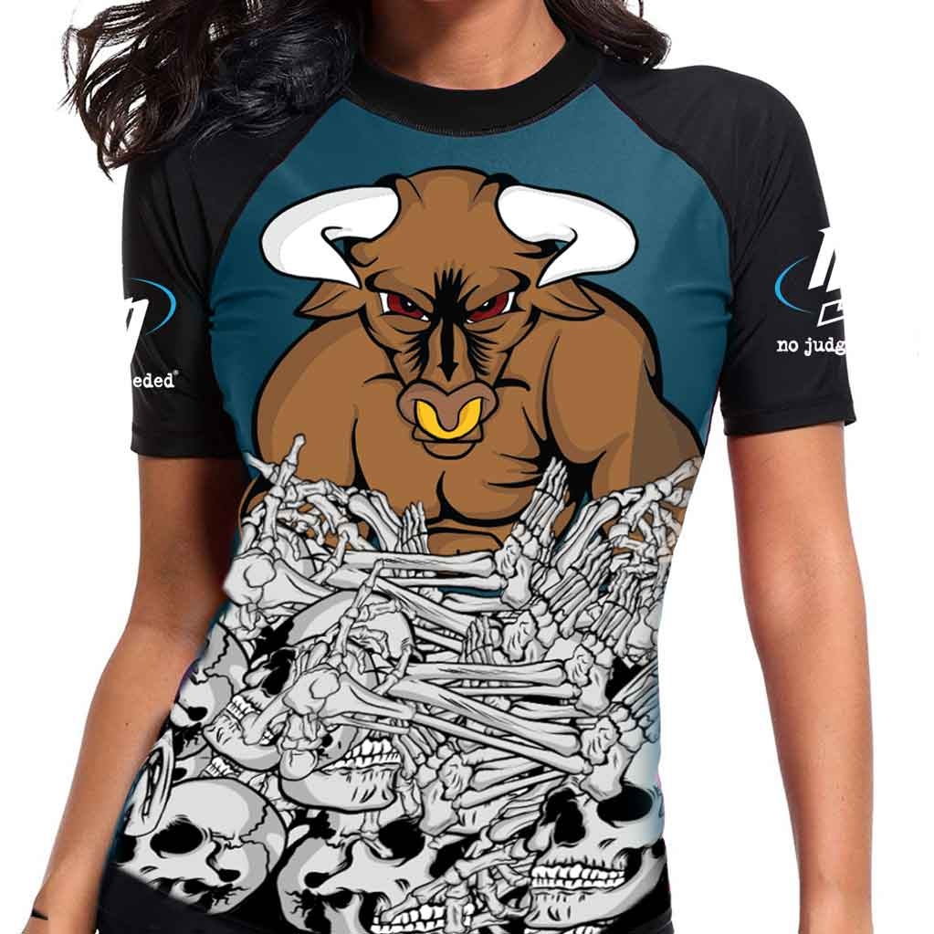 Womens Minotaur Rash Guard | No Judges Needed