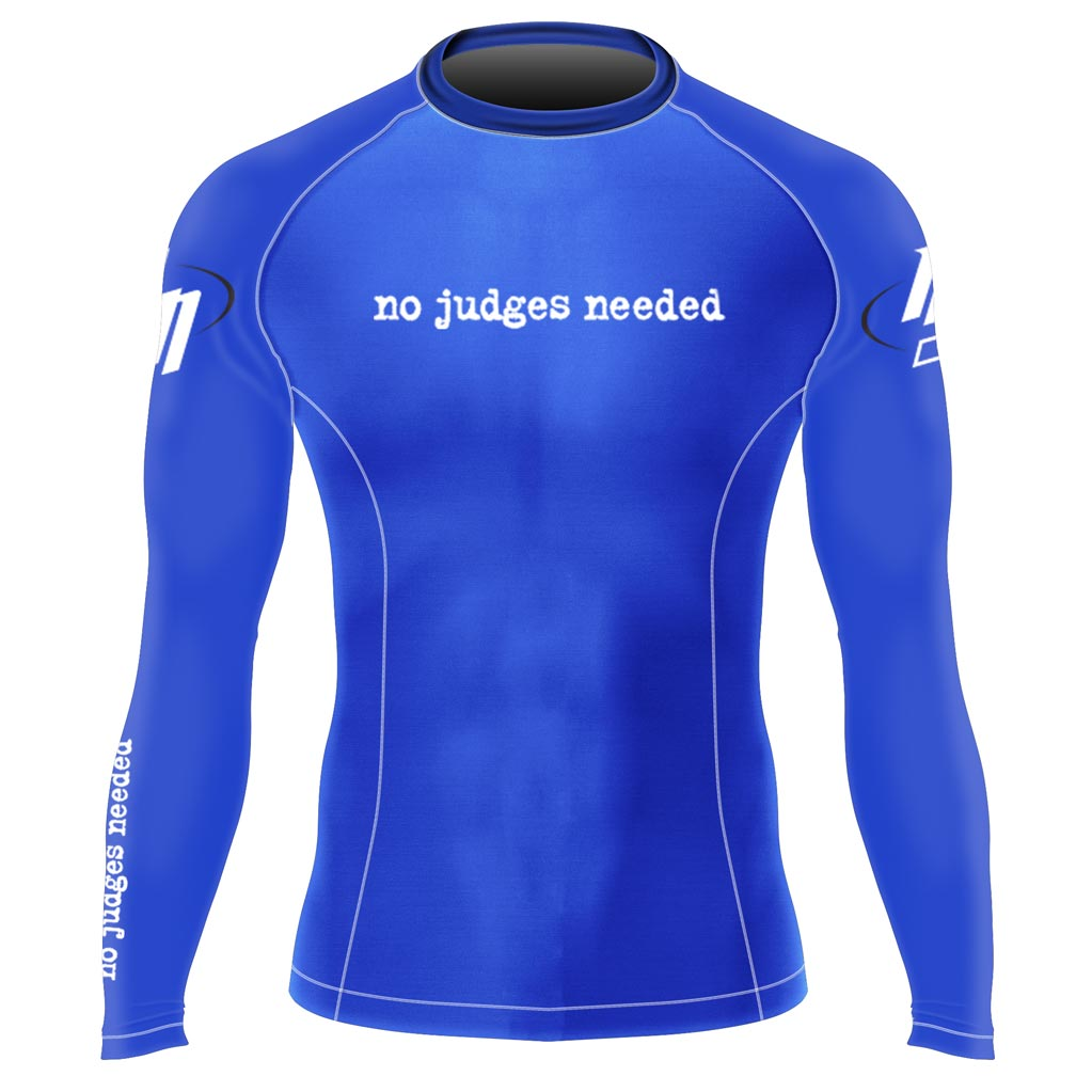 Blue Long Sleeve Rash Guard | No Judges Needed