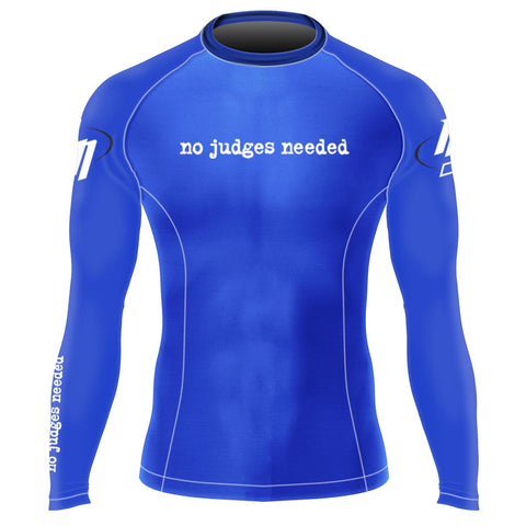 Womens Blue Long Rash Guard