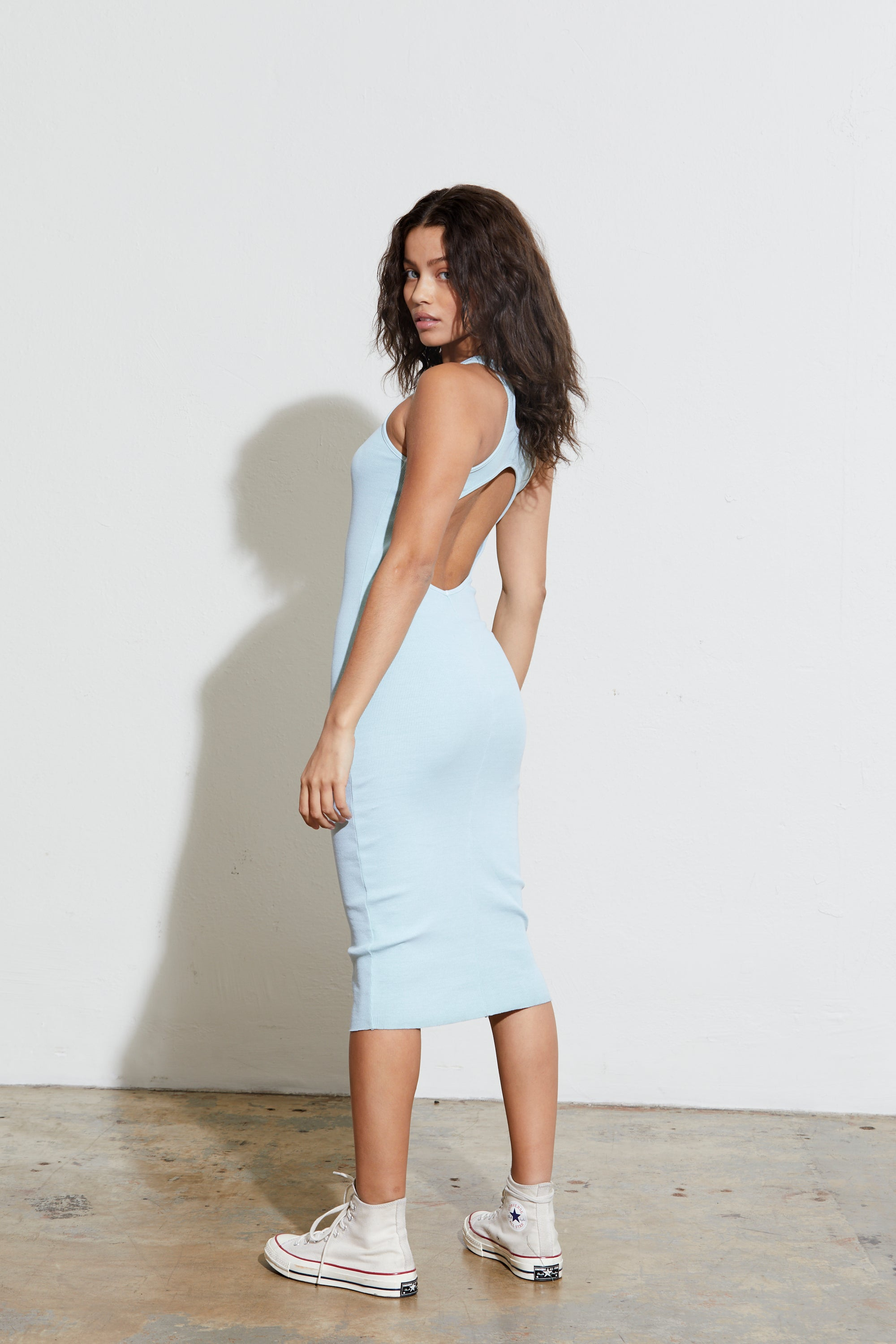 Rib Cut Out Dress