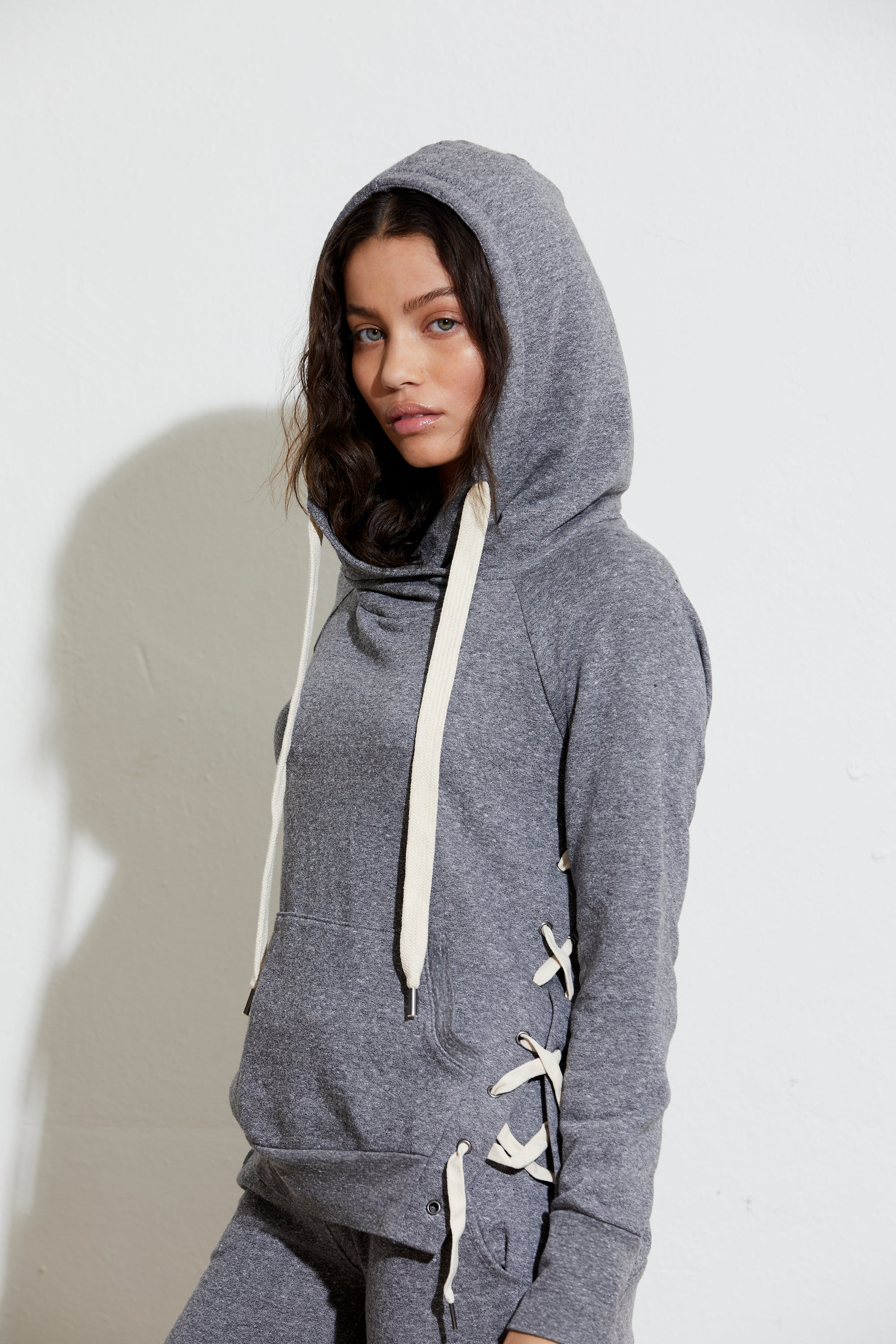 Enzo Side Lace Up Sweatshirt