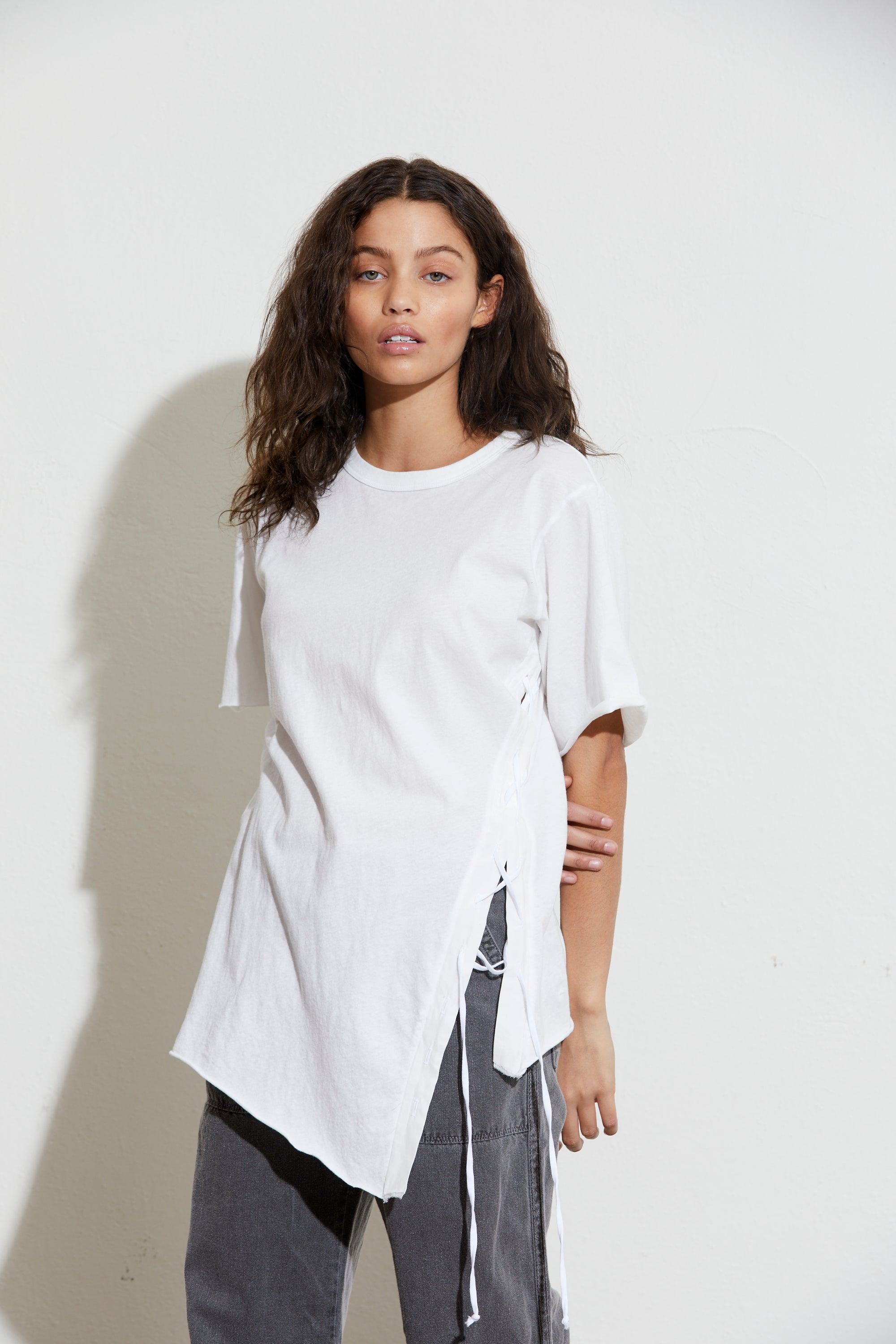 Molly Side Tie Short Sleeve