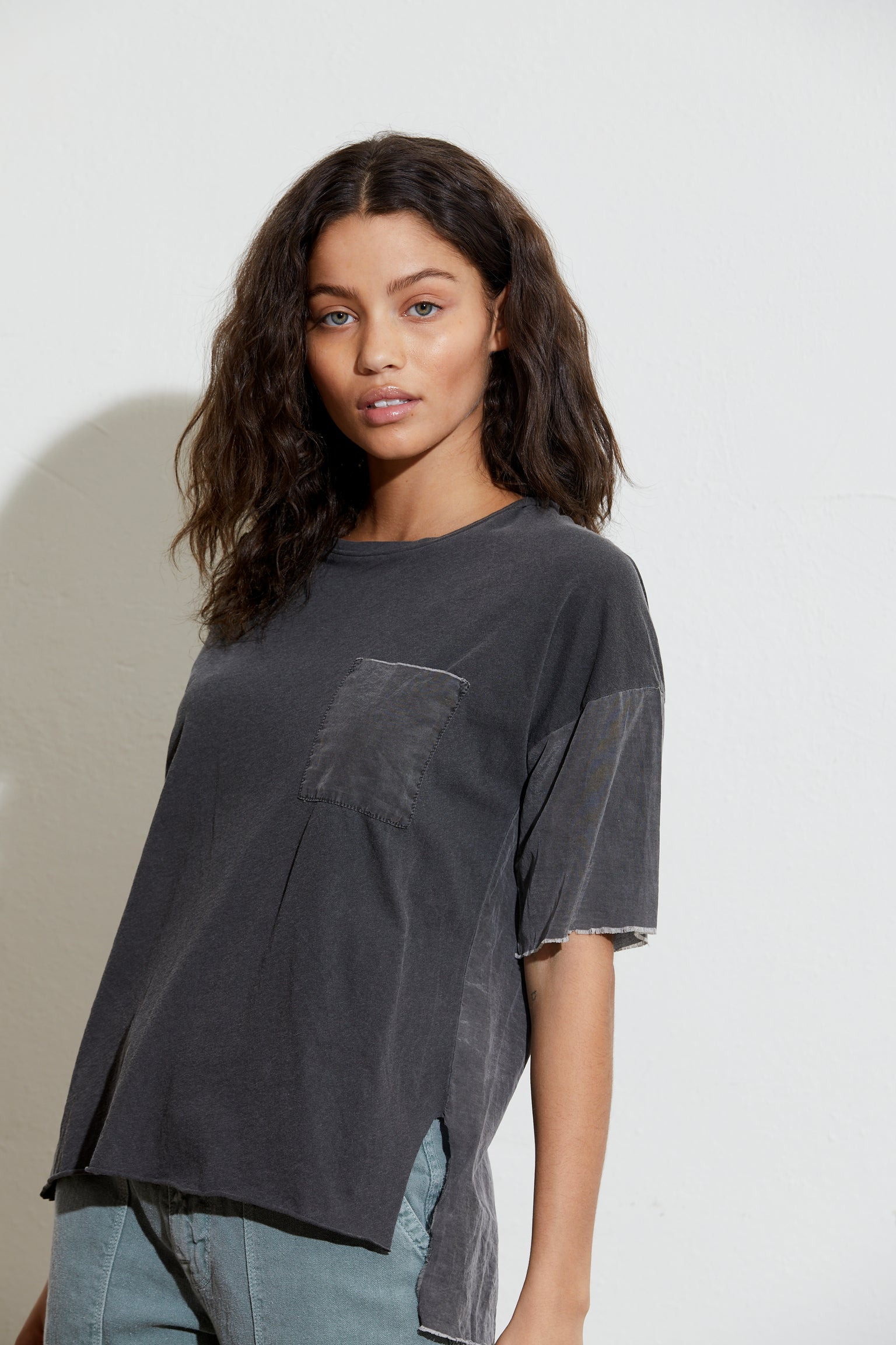 Michelle Contrast Pocket Tee