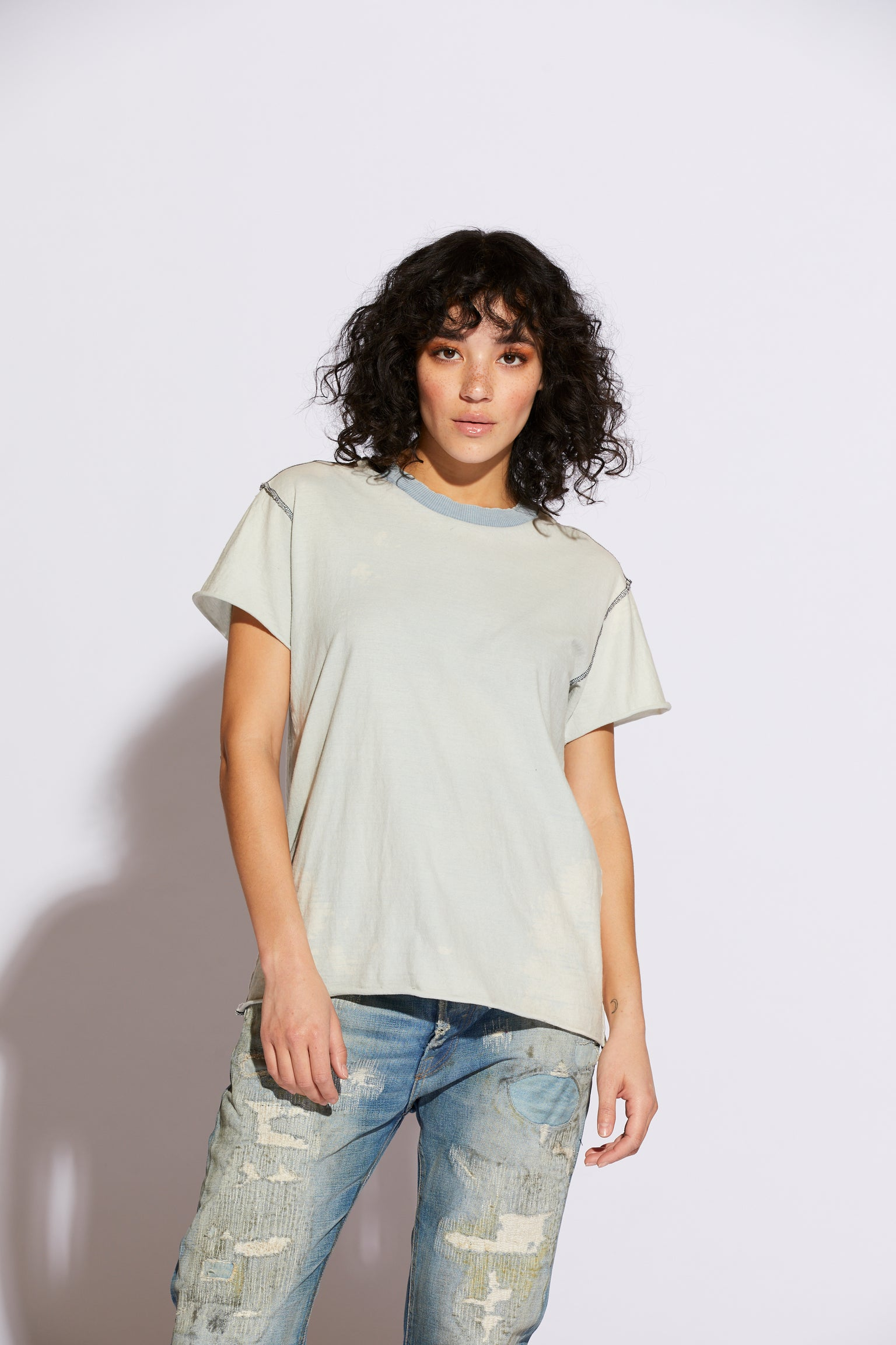 Archive Bleached Cloud Tee