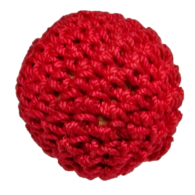 "1"" Crochet Ball Non Magnetic (Red) by Ickle Pickle Products, Inc. - Trick"