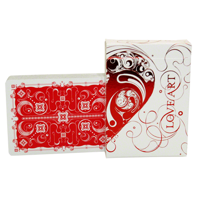 Love Art Deck(Red / Limited Edition)deck By Bocopo.co USPPC - Trick