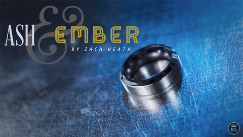 Ash and Ember Silver Beveled Size 11 (2 Rings) by Zach Heath  - Trick
