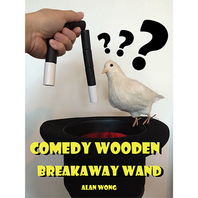 Comedy wooden breakaway wand (XL) by Alan Wong