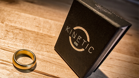 Kinetic PK Ring (Gold) Curved size 9 by Jim Trainer - Trick