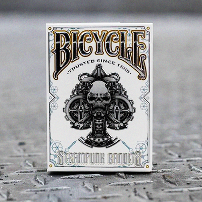 Bicycle Steampunk Bandit Deck (White) by Gambler's Warehouse- Trick