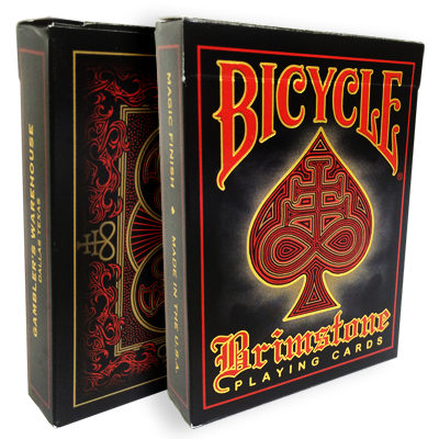 Bicycle Brimstone Deck (Red) by Gambler's Warehouse - Trick
