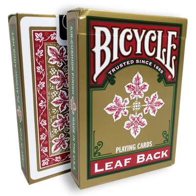 Bicycle Leaf Back Deck (Red) by Gambler's Warehouse - Trick