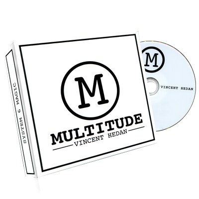 Multitude (DVD & Gimmicks) Red by Vincent Hedan and System 6 - DVD