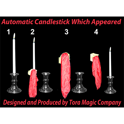 Automatic Appearing Candle (2 PARTS:GIMMICK AND DVD) by Tora Magic - Trick
