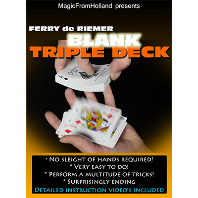 Triple Deck (Red / Blank) by Ferry De Riemer - Trick