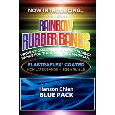 Joe Rindfleisch's Rainbow Rubber Bands (Hanson Chien - Blue Pack) by Joe Rindfleisch - Trick