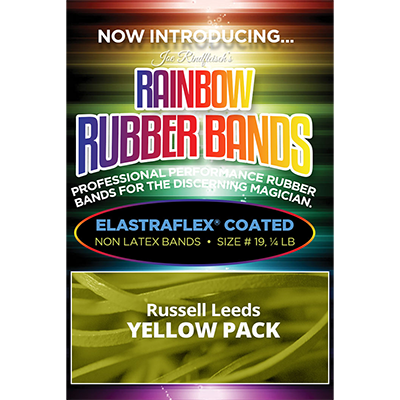 Joe Rindfleisch's Rainbow Rubber Bands (Russell Leeds -Yellow ) by Joe Rindfleisch - Trick