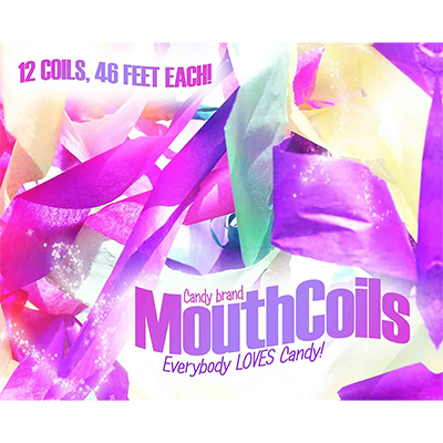 Mouth Coils 46 foot (Rainbow) by Candy Brand - Trick