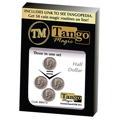 Three in One (Half Dollar) Set (D0173) by Tango - Trick
