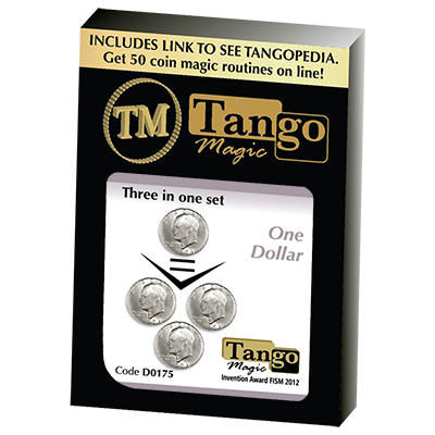 Three in One (Eisenhower Dollar) Set (D0175) by Tango - Trick