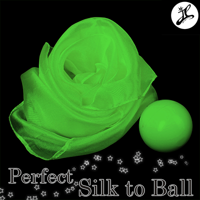 Perfect Silk to Ball GREEN (Automatic) by JL Magic - Trick