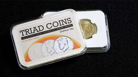 Triad Coins (Euro Gimmick and Online Video Instructions) by Joshua Jay and Vanishing Inc. - Trick