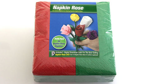 Napkin Rose Kit (Red) by Michael Mode - Trick
