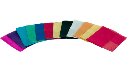 "Silks 12"" 12 Pack (Assorted) Magic by Gosh - Trick"