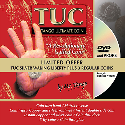 Limited Special Silver TUC Walking Liberty plus 3 Matching Coins by Tango - Trick