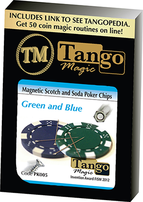 Magnetic Scotch and Soda Poker Chips by Tango PK005 - Trick