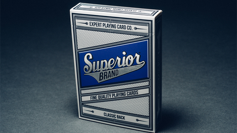 Superior (Blue) Playing Cards by Expert Playing Card Co