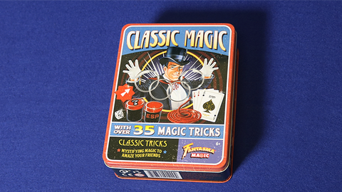 Retro Classic Magic Kit (Tin of 35 Tricks) by Fantasma Magic