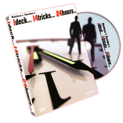 1 Deck 14 Tricks 24 Hours Volume 2 by Matthew J. Dowden & RSVP - DVD - Boardwalk Magic