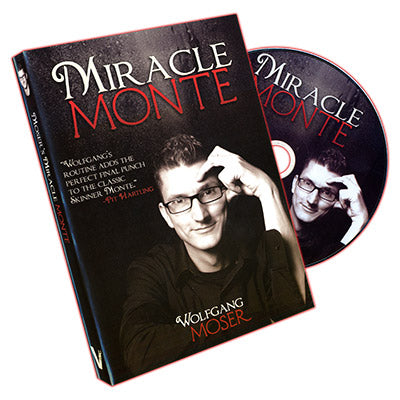Miracle Monte (20 Bicycle Cards and DVD)  by Wolfgang Moser and Vanishing Inc. - DVD